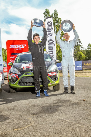 Cams Australian Rally Championships Podium - ARC- Two Wheel Drive -Podium 2018- 3rd Place Haowen Chu & Derek Lai - Ford Fiesta