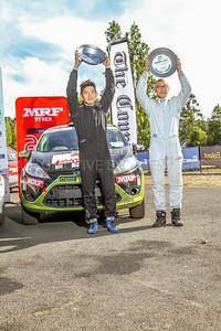 Cams Australian Rally Championships Podium - ARC- Two Wheel Drive -Podium 2018- 3rd Place Haowen Chu & Derek Lai - Ford Fiesta