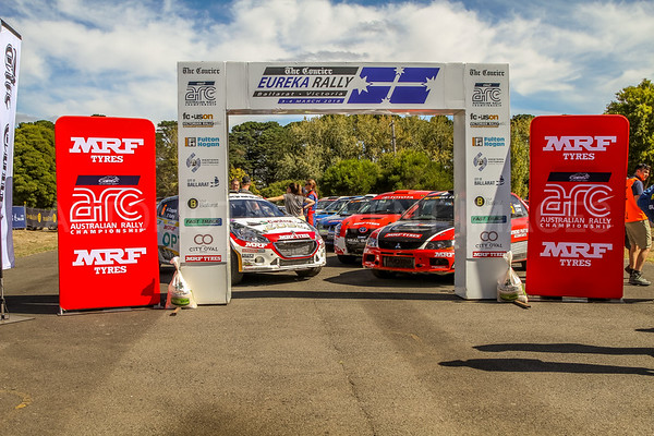 Cams Australian Rally Championships Podium Celebrations