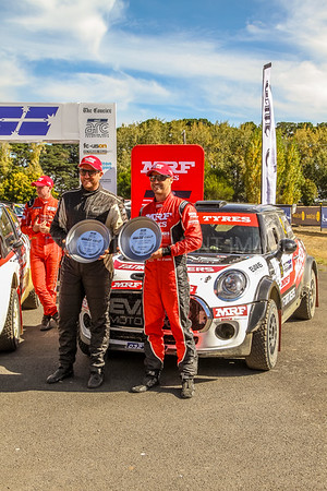 Cams Australian Rally Championships 2018 Podium Celebrations - ARC- 3rd place - Car No.2 - Eli Evans & Ben Searcy-Mini Cooper