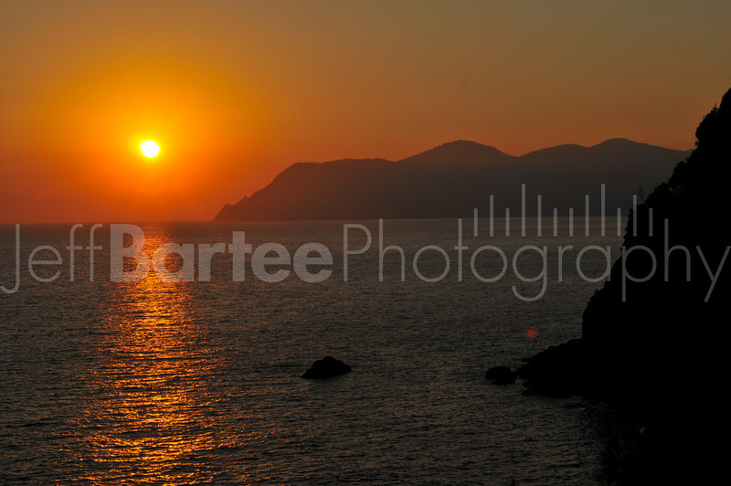 Sunset from the Cinque Terre trail