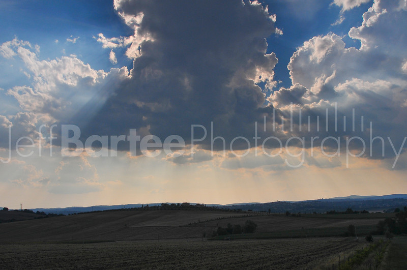 Beaming with goodness over Tuscany