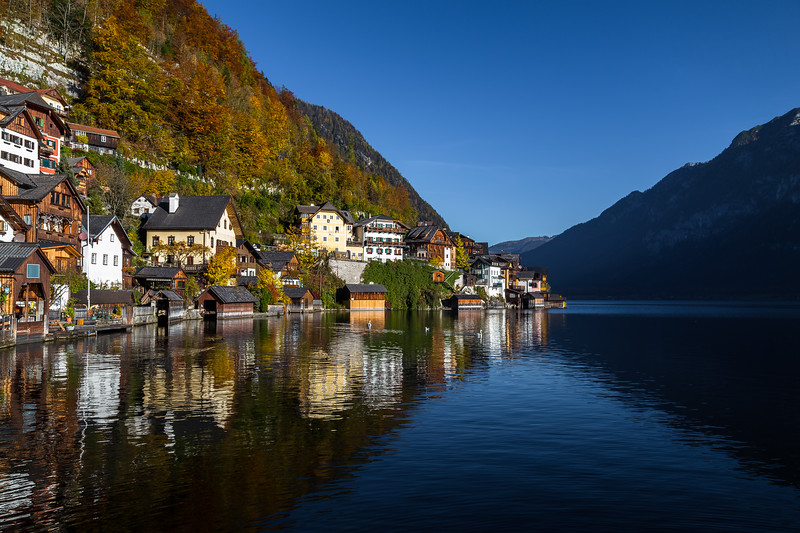 Hallstatt Waterfront in the Autumn