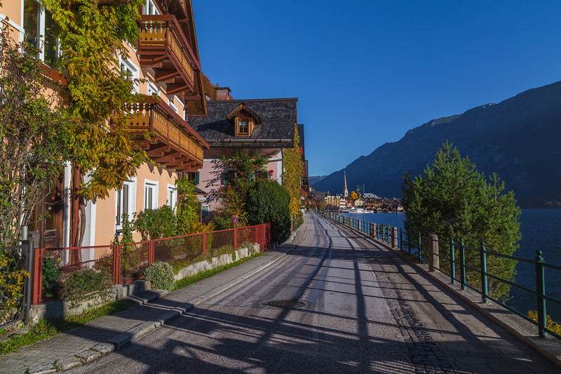 Road in Hallstatt Along the Waterfront