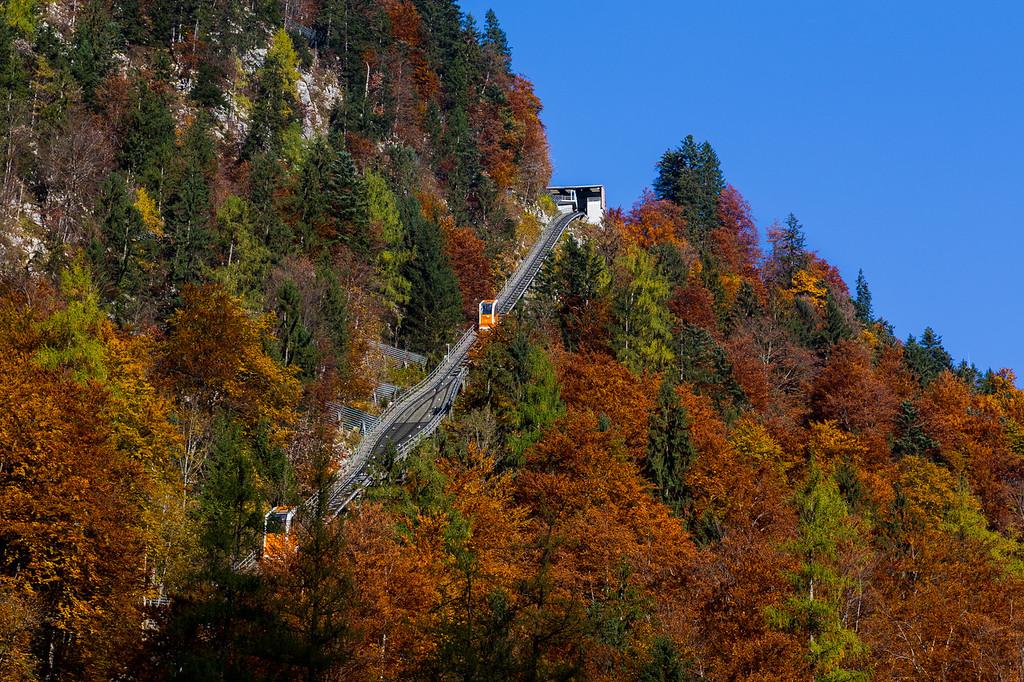 Hallstatt Gondola Lift during the Autumn