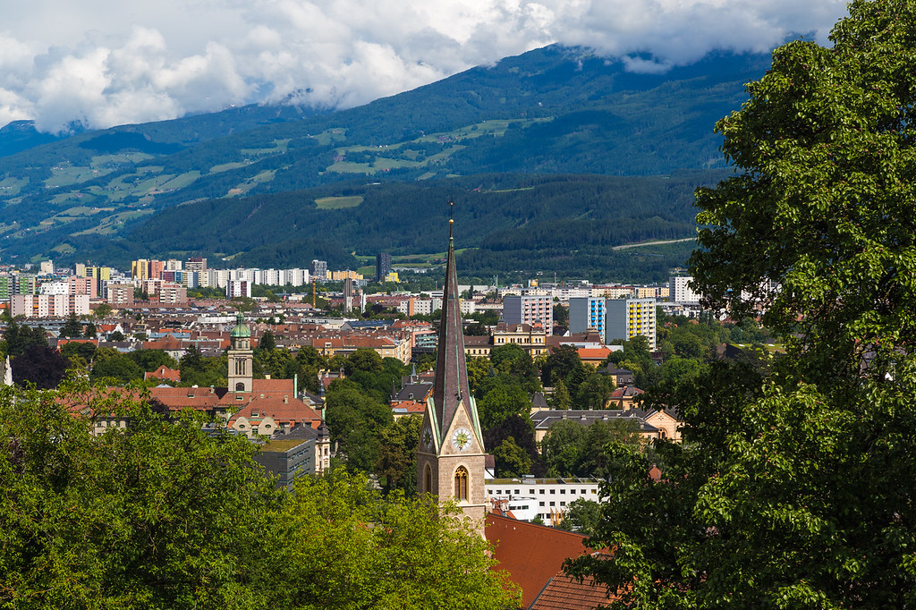 High angle of the Innsbruck Skyline