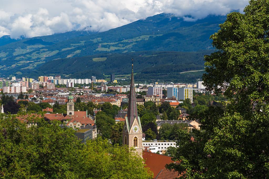 High angle of the Innsbruck Skyline