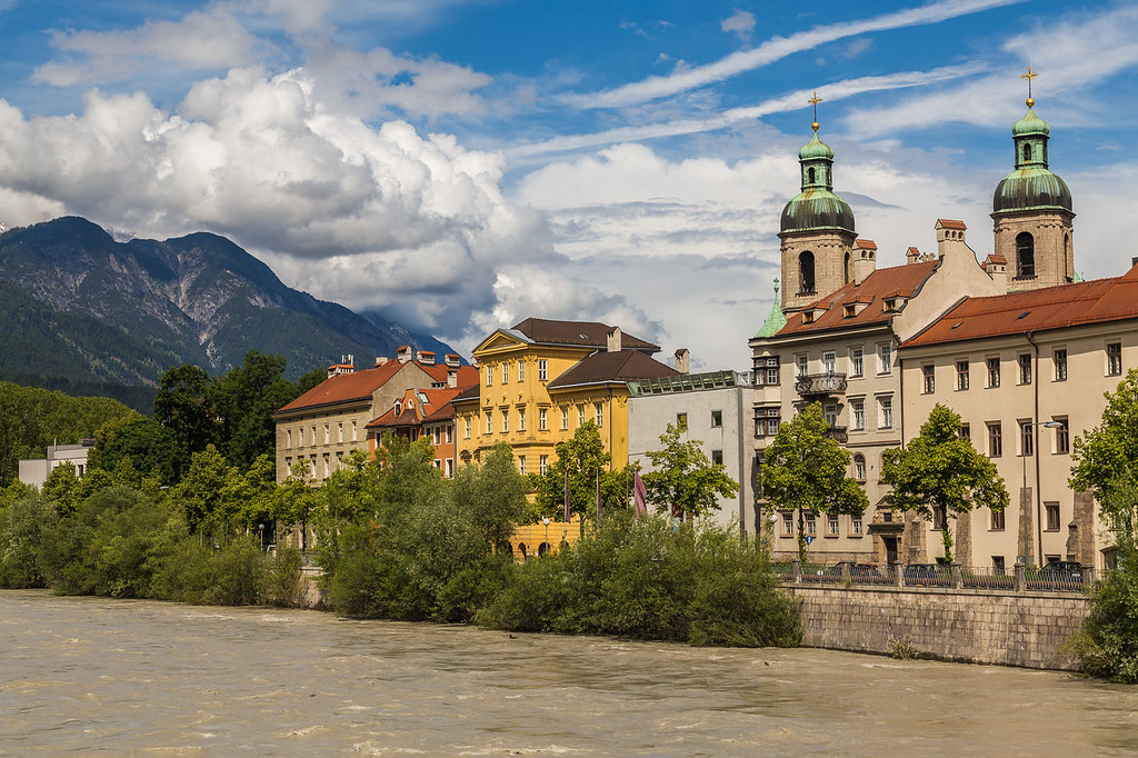 Exterior of Innsbruck Cathedral during the Day