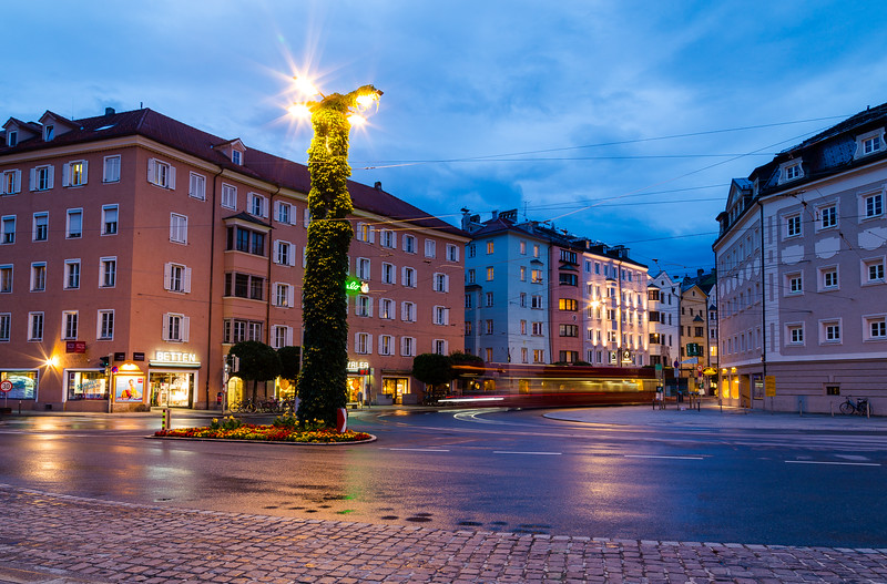 Streets of Innsbruck at Night