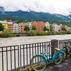 Colourful Buildings along the River Inn in Innsbruck