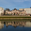 Buildings Along the River Salzach in Salzburg