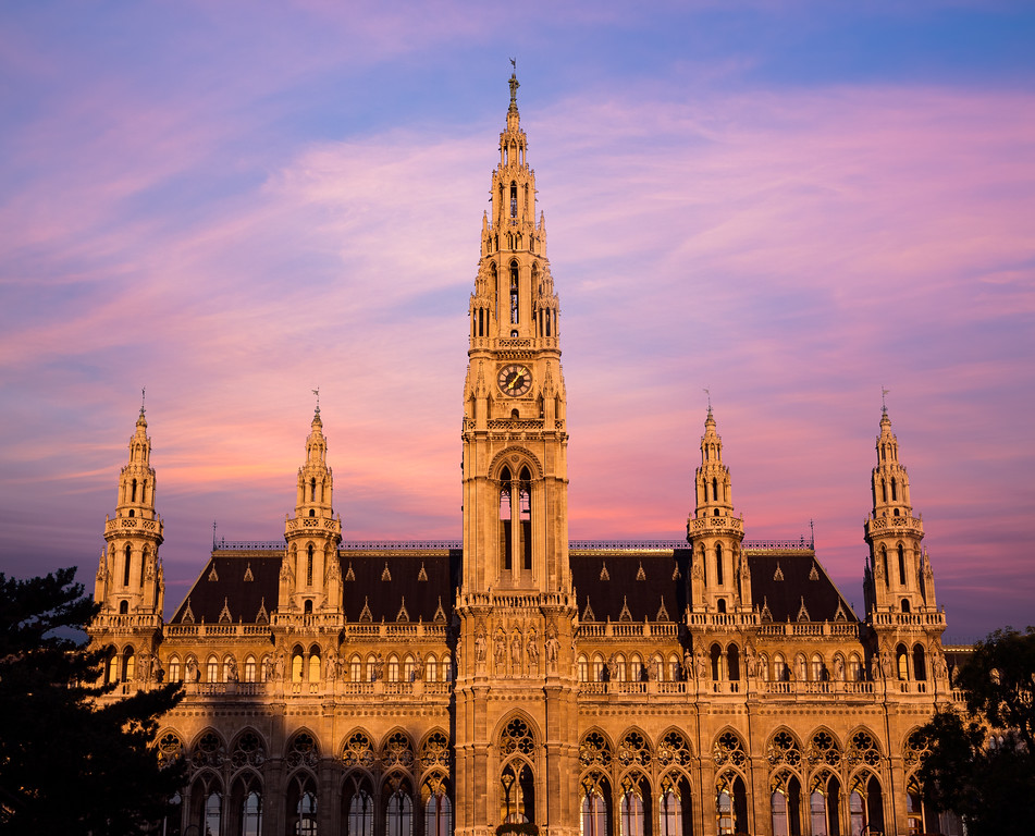 Rathaus Vienna at Sunrise