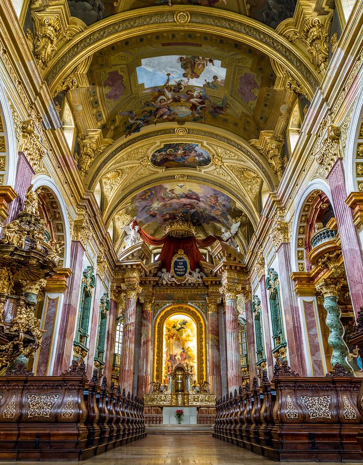 Jesuitenkirche Interior in Vienna