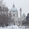 Karlskirche Vienna in the winter