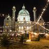 Karlskirche and the Art Advent Christmas Market