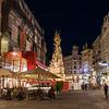 Graben in Vienna at n night