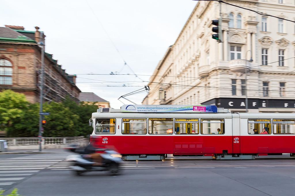 Old Tram in Vienna