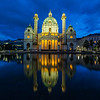 Karlskirche in Vienna at night