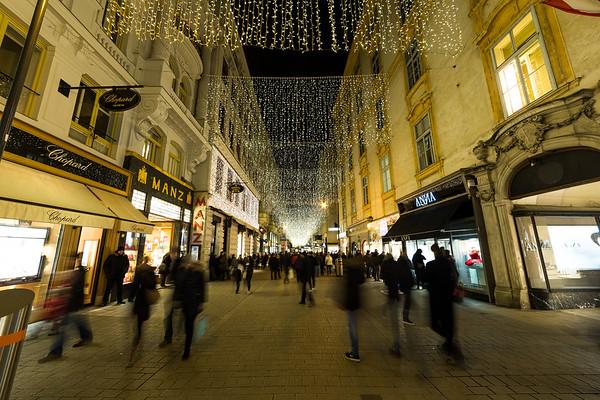 Kohlmarkt at Christmas