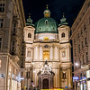 Catholic Church of St. Peter in Vienna during the Winter