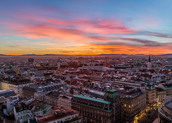 Vienna Skyline at Sunset