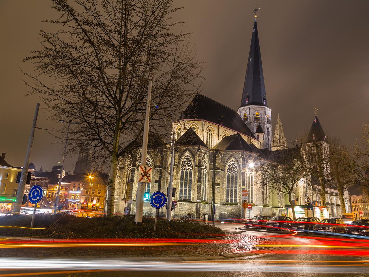 St. James' Church, Antwerp (Sint-Jacobskerk) in Ghent at Night