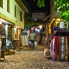 Shops in Mostar at Night