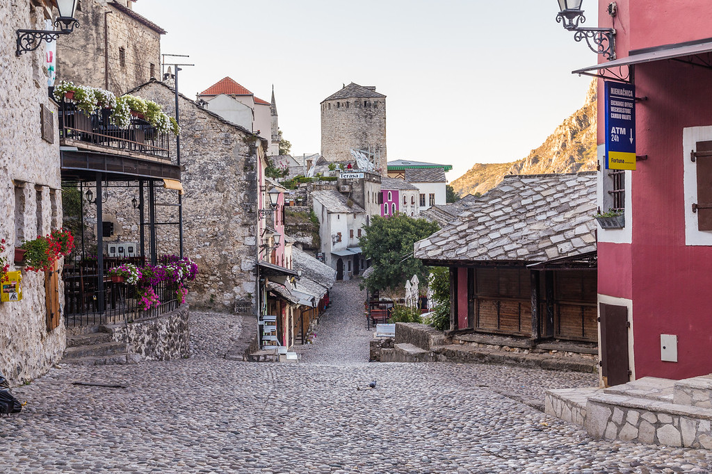 Streets of Mostar in the morning