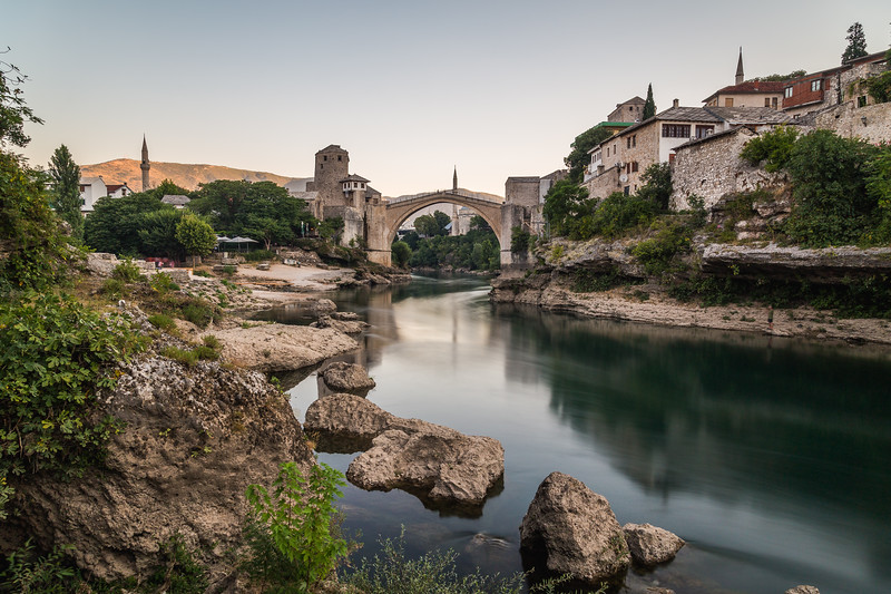 Mostar and Stari Most in the morning