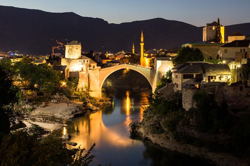 Mostar Skyline at Night