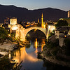 Mostar Skyline at Night