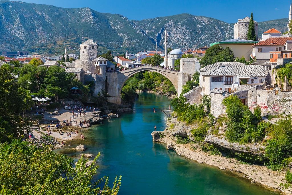 Mostar Skyline during the day