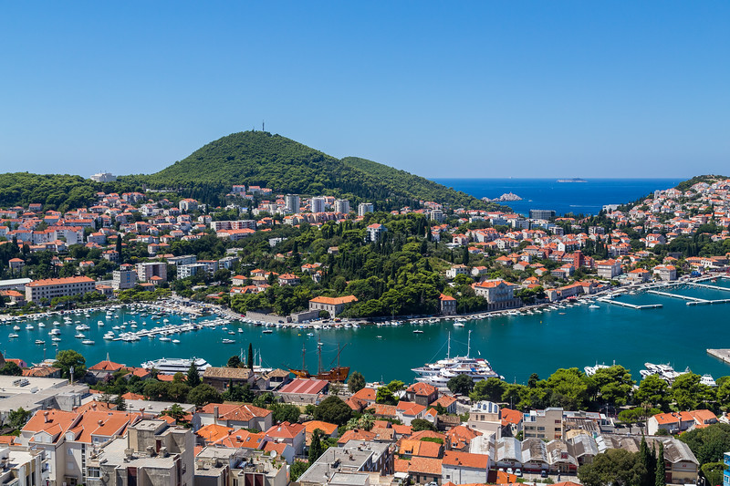 Ports in Dubrovnik in the Summer