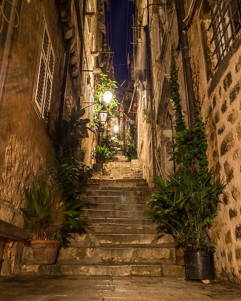 Dubrovnik Streets at Night