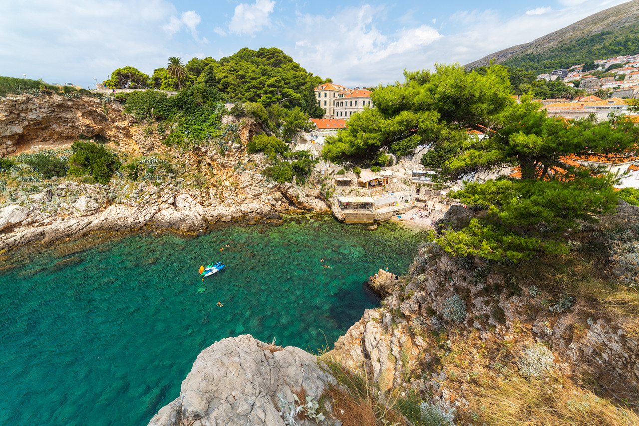 Beaches and Coves in Dubrovnik in the Summer
