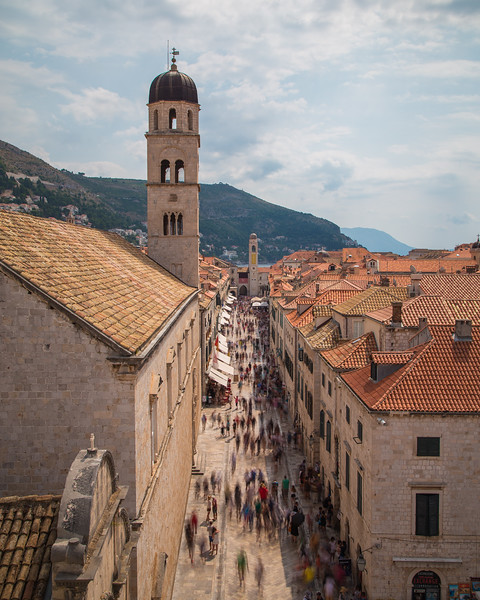 Streets of Dubrovnik in the Summer