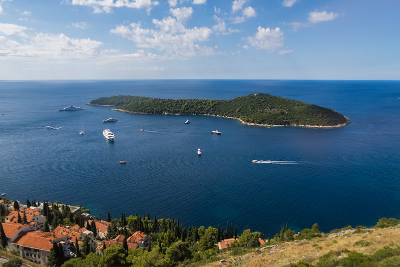 Boats and Islands in the dalmation coast