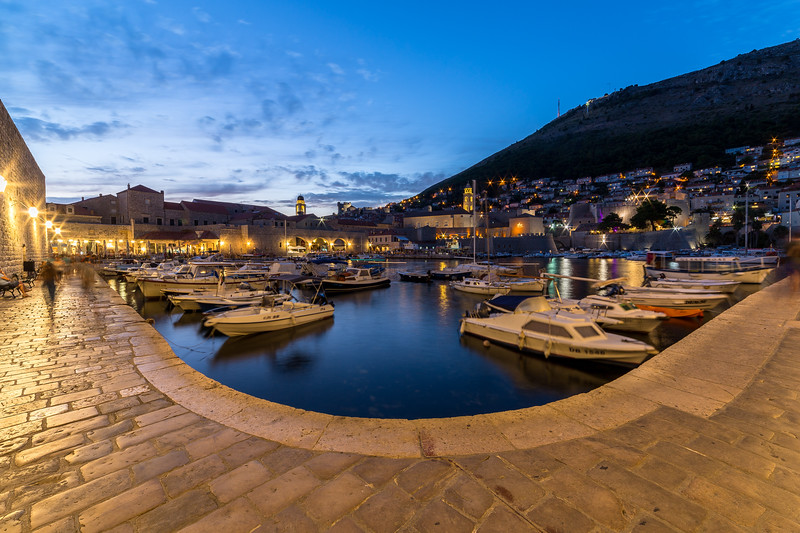 Dubrovnik Old Port at Dusk