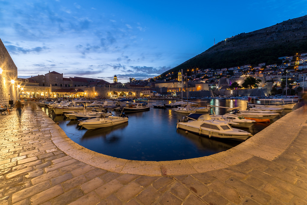 Dubrovnik Old Port at Dusk