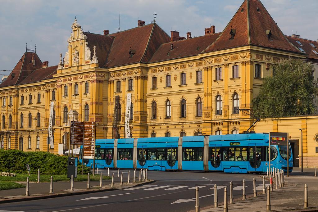 Blue Trams in Zagreb