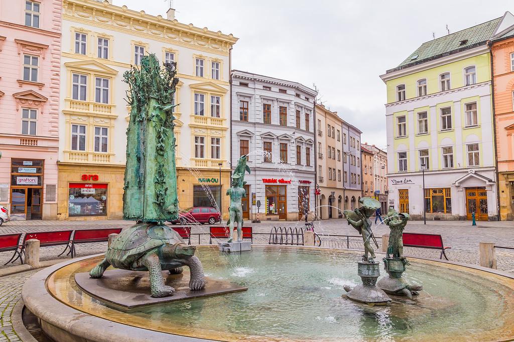 Arion Fountain in Olomouc Czech Republic