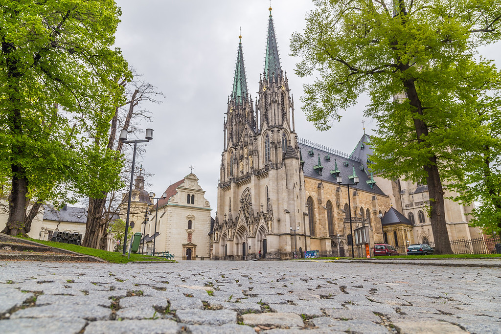 Saint Wenceslas Cathedral in Olomouc Czech Republic