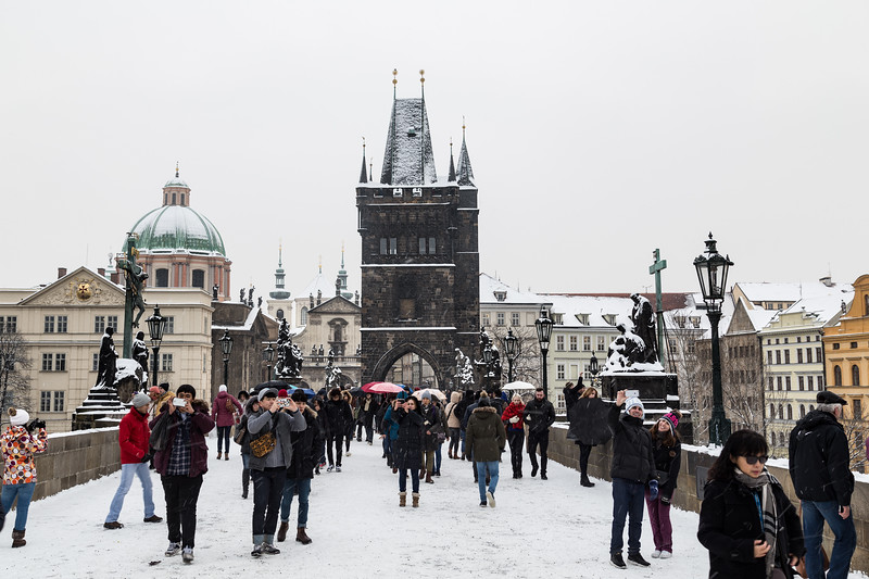 Charles Bridge in the Winter