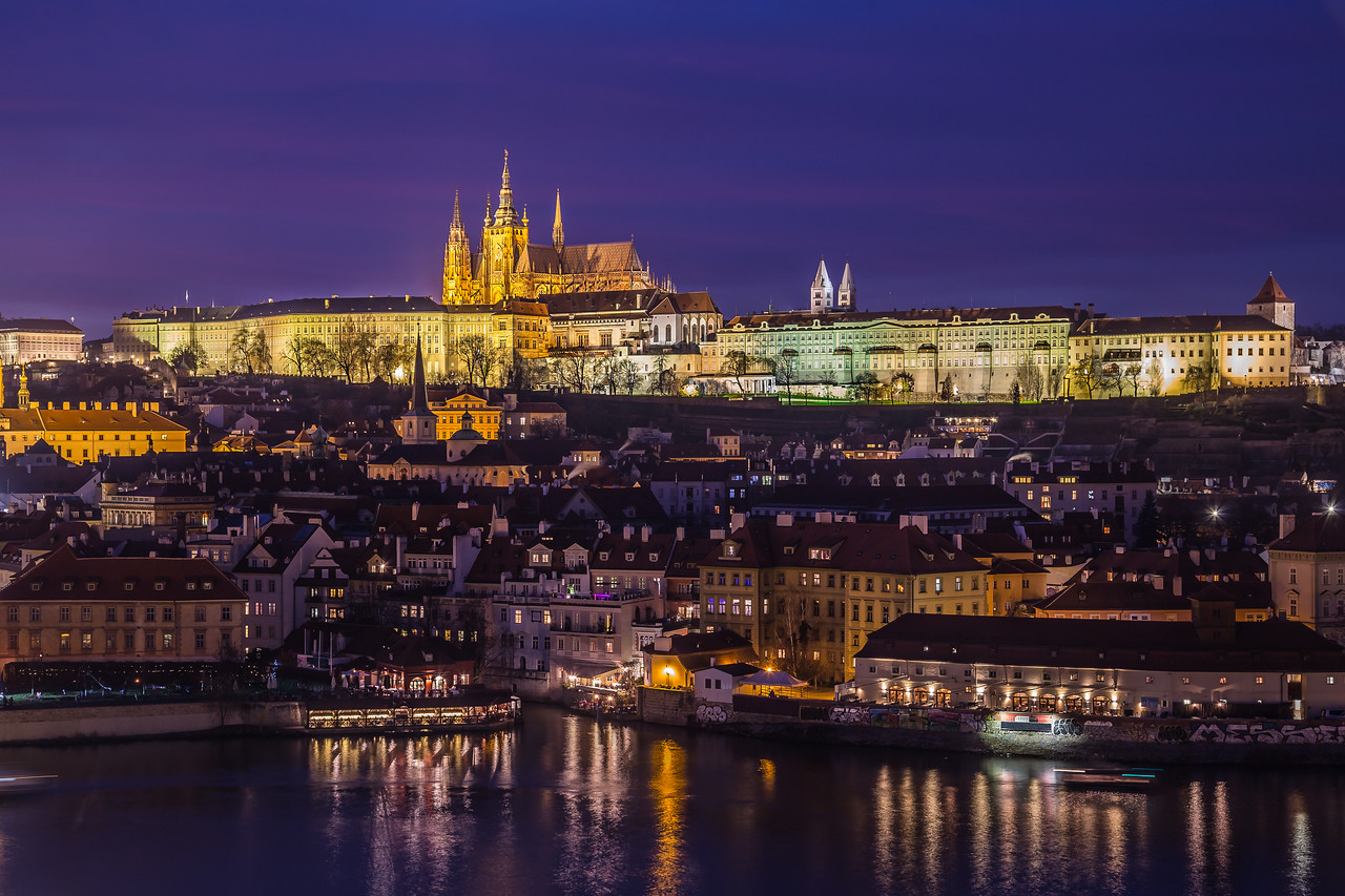 Prague Skyline at Dusk