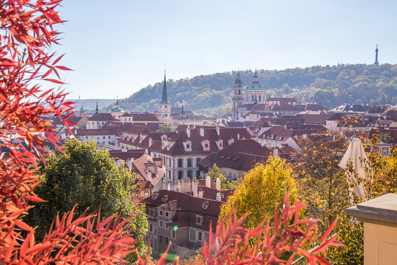 Prague skyline in the autumn