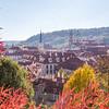 Prague skyline in the autumn