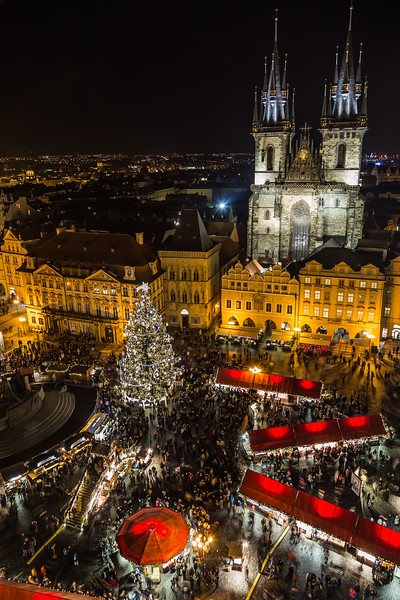 High View of Prague Christmas Market