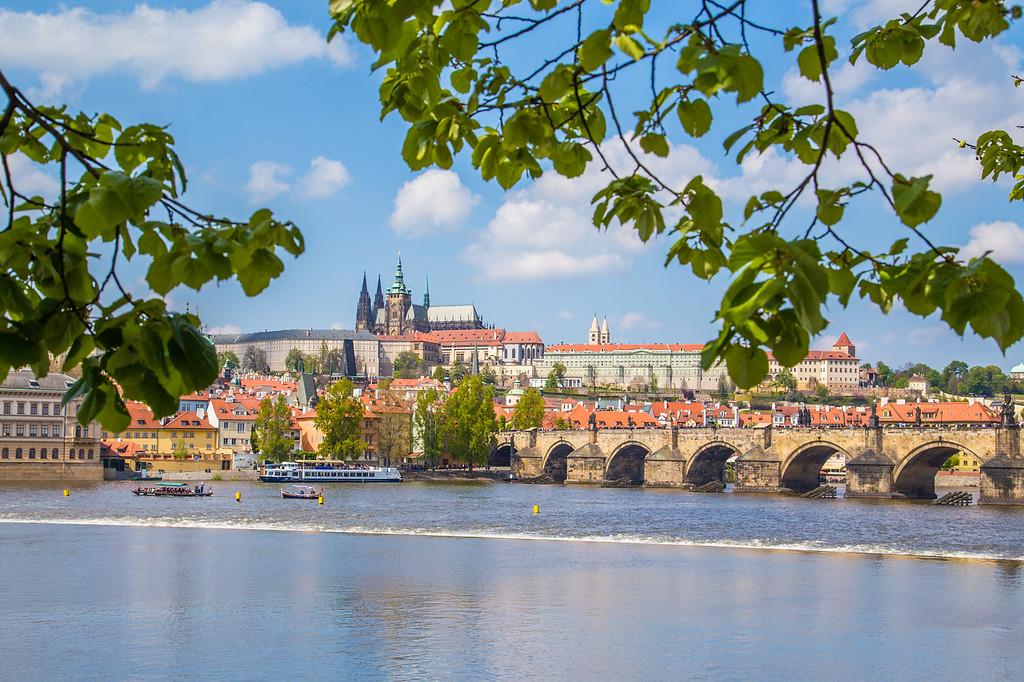 Prague Skyline towards Lesser town