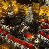 High View of Prague Christmas Market
