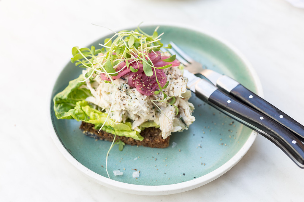 Smorrebrod open sandwich in Denmark